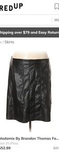 Dresses & Skirts - Modamix faux leather skirt